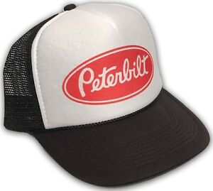 961494835 Peterbilt Trucker Hat Vintage Farmer Semi Truck Mesh Style Snapback ...