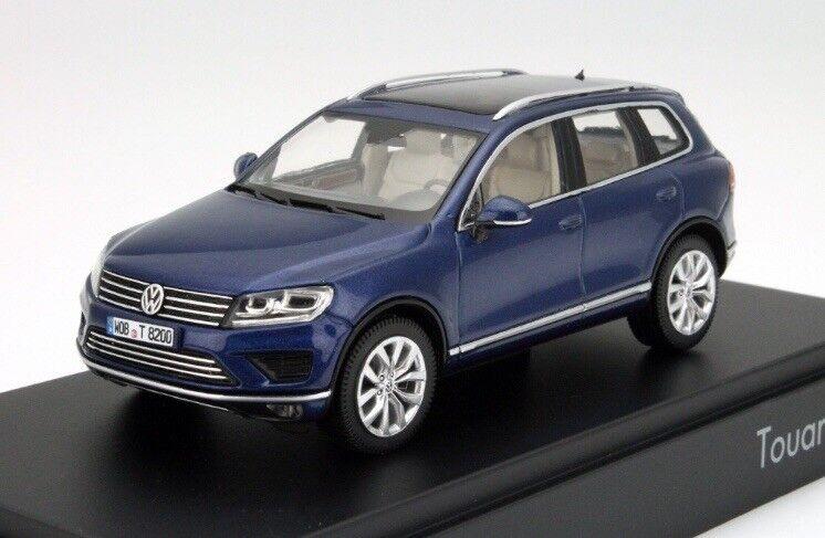 VW TOUAREG 7P II SE 3.0 V6 TDI REEF blueE FACELIFT 1 43 HERPA (DEALER MODEL)