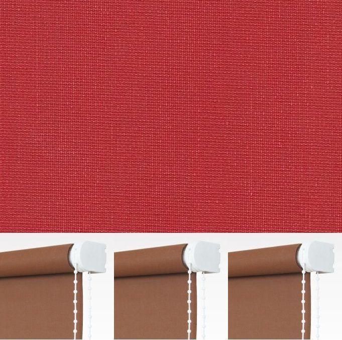 Kettenzugrollo Seitenzugrollo Sichtschutz Fenster Rollo Rot Breite 60 bis 240 cm  | Günstige  | Schönes Aussehen  | Economy