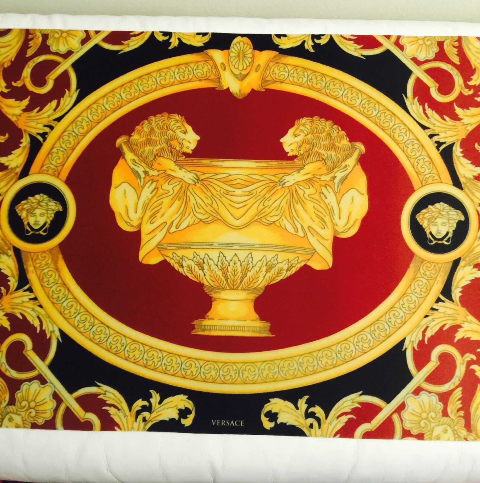 VERSACE MEDUSA plaque mat napperon table bar Mat BAROCCO Lion Urne Vase NEUF