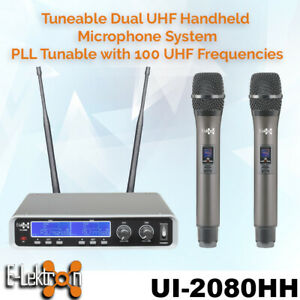 E-lektron-Dynamic-Tunable-UHF-2X-Metal-Handheld-Wireless-Pro-Microphone-System