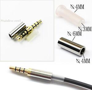Gold-4-Pole-3-5mm-Male-Repair-headphone-Jack-Plug-Metal-Audio-Soldering-amp-Spring