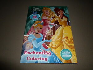 Image Is Loading 224 Page Disney Princess Enchanting Coloring Book Stickers