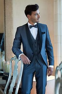 Image Is Loading Men Suits Navy Blue Customized Best