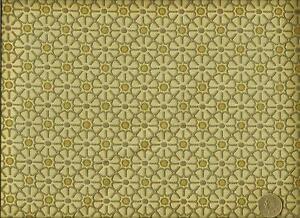 Mid Century Modern Retro Funky Mod Floral Cream Gold Gray