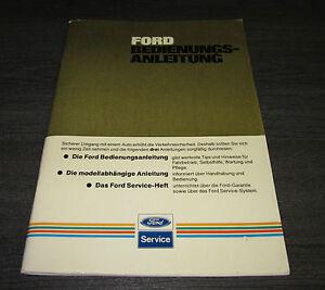 Betriebsanleitung-Handbuch-Ford-Modell-unabhaengig-Stand-November-1984