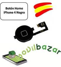 BOTON HOME FLEX IPHONE 4 NEGRO. ENVÍO DESDE ESPAÑA