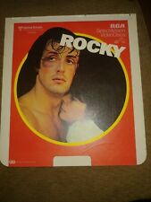 United Artist RCA SelectaVision Video Discs Rocky CED