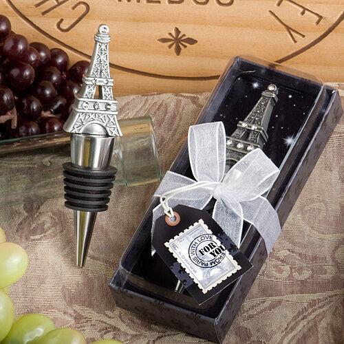 36 Paris Theme Eiffel Tower Wine Bottle Stopper Favors