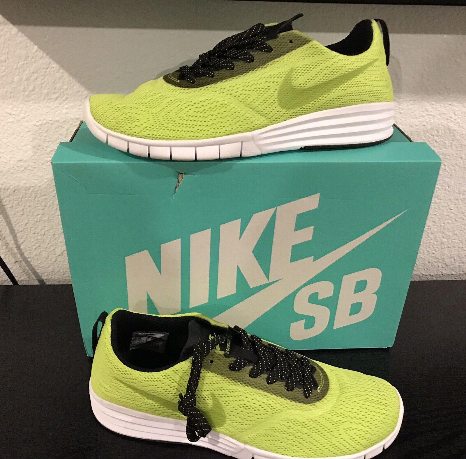 New Nike Mens SB Paul Rodriguez 9 R R shoes 749564-301 size 10 Cyber Green Lunar