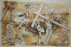 Lucien-Philippe-MORETTI-Lithographie-signee-Le-braconnier-de-Dieu-planche-7