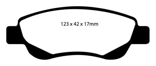 EBC Greenstuff Sportbremsbeläge Vorderachse DP21597 für Toyota Aygo