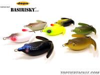 Deps Basirisky Soft Crawler Topwater Frog Lure - Select Size/color(s)