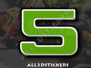 3D-Stickers-Resin-Domed-NUMBER-5-FIVE-Color-Green-25-mm-1-inch-Adhesive