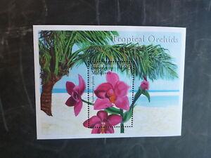2000-MALDIVES-ORCHIDS-STAMP-MINI-SHEET-MNH-2