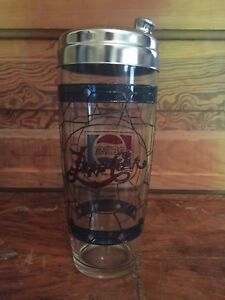 Vintage-1970-039-s-Pepsi-Cola-Tiffany-Style-Stained-Glass-Cocktail-Shaker