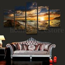 HUGE SUN SKY MODERN ABSTRACT WALL DECOR ART OIL PAINTING ON CANVAS ( No Frame)