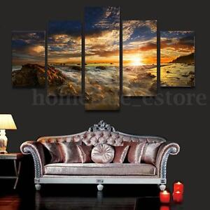 HUGE-SUN-SKY-MODERN-ABSTRACT-WALL-DECOR-ART-OIL-PAINTING-ON-CANVAS-No-Frame