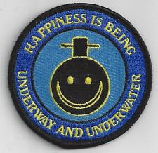 Happiness is Being Underway and Underwater, Submarine - BC Patch Cat No. c7151