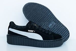 new products 2a2e2 f8092 Details about NEW PUMA FENTY RIHANNA CREEPERS SUEDE BLACK - WHITE WOMEN'S  SHOES ALL SIZES