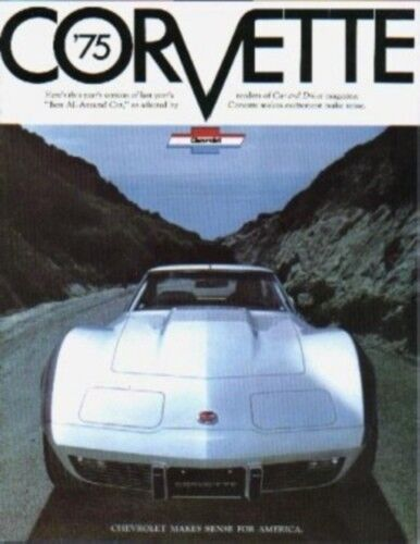 CORVETTE 1975 Sales Brochure 75 Vette