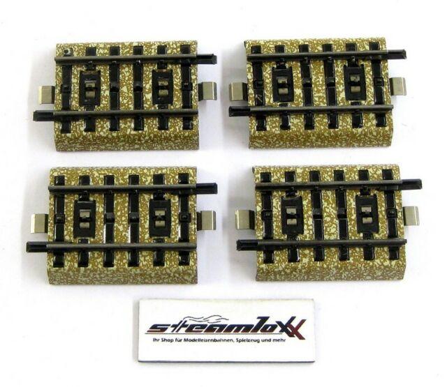 10x Top Zustand! Märklin 5208 gerades M-Gleis 8 mm