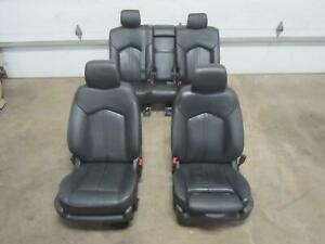 12-CADILLAC-SRX-Front-Seat-Complete-Rear-Back-Seats-Black-Leather-Ebony-AL0-Set