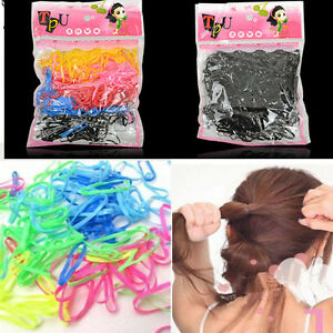 400pcs-Elastic-HairBand-Rubber-Rope-Ponytail-Holder-Hair-Band-Ties-Braids-Plaits