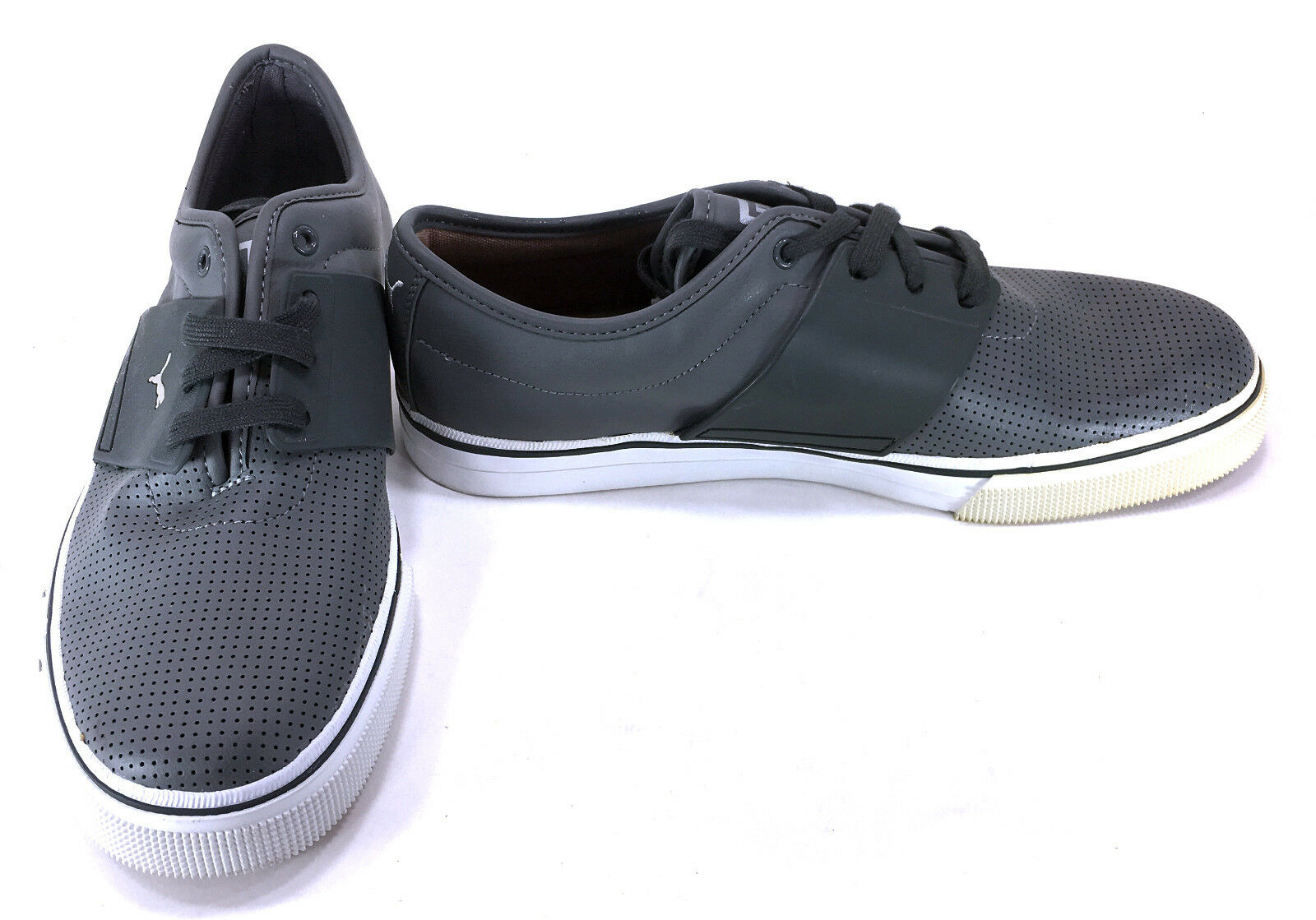 Puma Shoes El Ace Leather Perforated Gray/White Sneakers Comfortable The most popular shoes for men and women