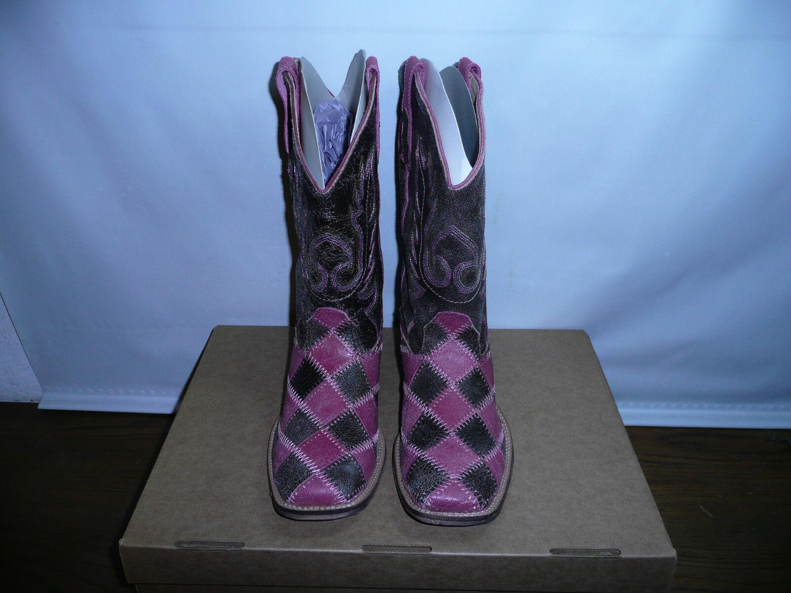 Roper Women's Patchwork Western Boot,Pink Brown,6.5 M US