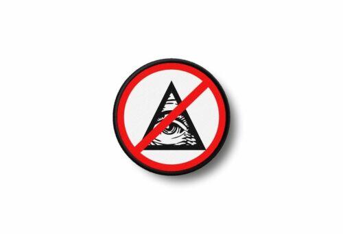 Patch aufnäher aufbügler morale motorrad no illuminati masonic freimaurer
