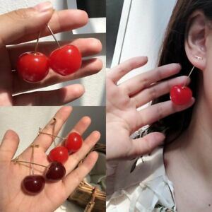 Fashion-Cute-Girl-Sweet-Simulation-Red-Cherry-Fruit-Gold-Stud-Earrings-For-Women