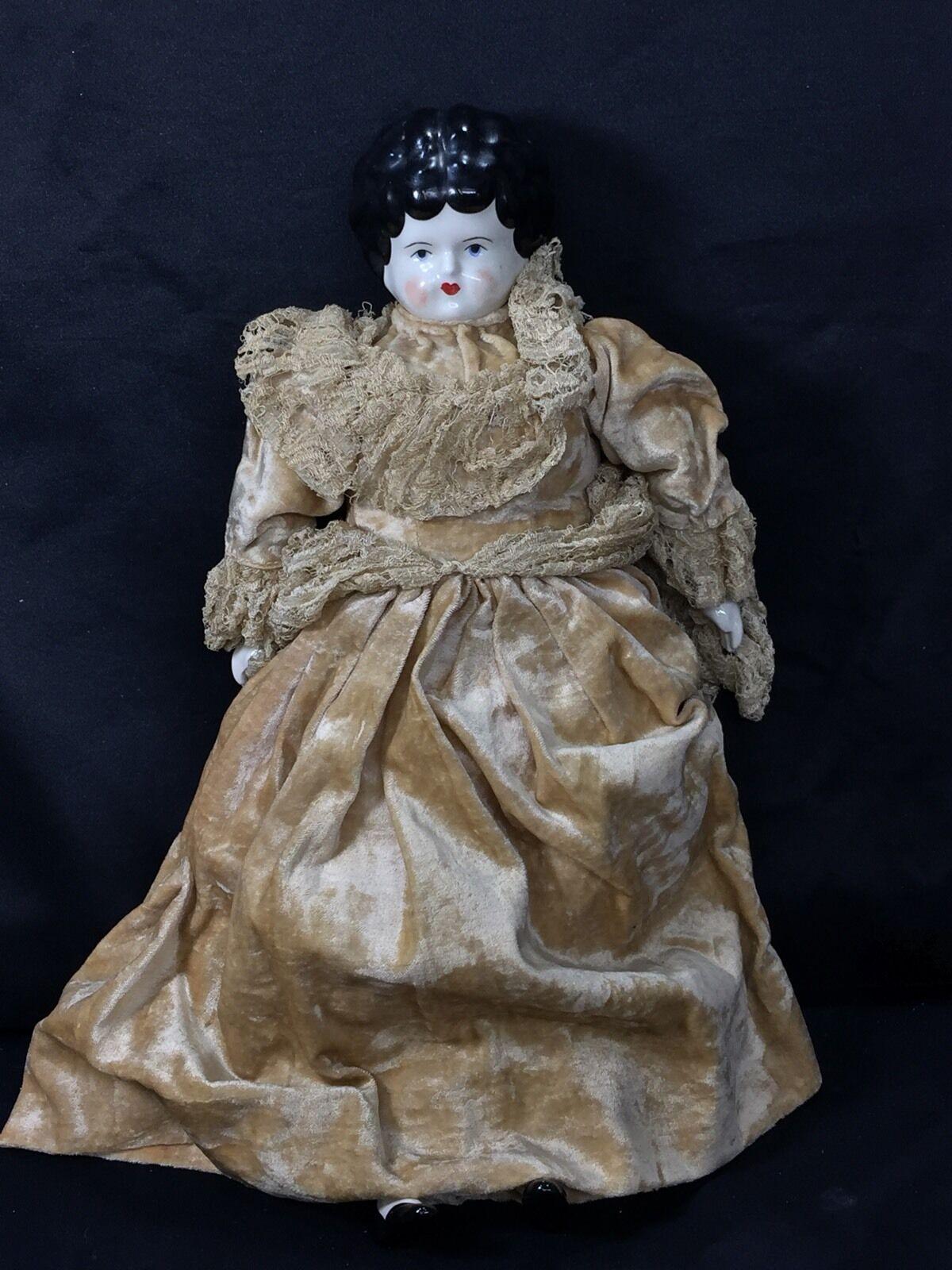 15  Largo Muñeca De Porcelana Dama Vestido Con Encaje hecho en casa bajo la ropa