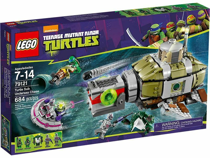 LEGO® Teenage Teenage Teenage Mutant Nina Turtles 79121 Turtle Sub Undersea Chase NEW MISB NRFB 463670