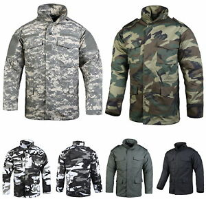 0adc31c656d8a Image is loading Mens-Military-Field-Combat-M65-Jacket-Outdoor-Hunting-