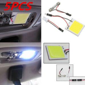 5PCS-New-White-48-SMD-COB-LED-T10-4W-12V-Car-Interior-Panel-Light-Dome-Lamp-Bulb