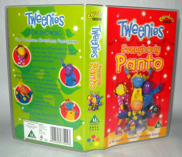 Tweenies- Everybody Panto - Children's VHS Tape & Case. VHS, Collectable VHS