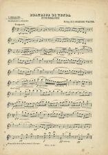 Spartito Antico per Mandolino Beatrice di Tenda di V. Bellini 1890 Forlivesi