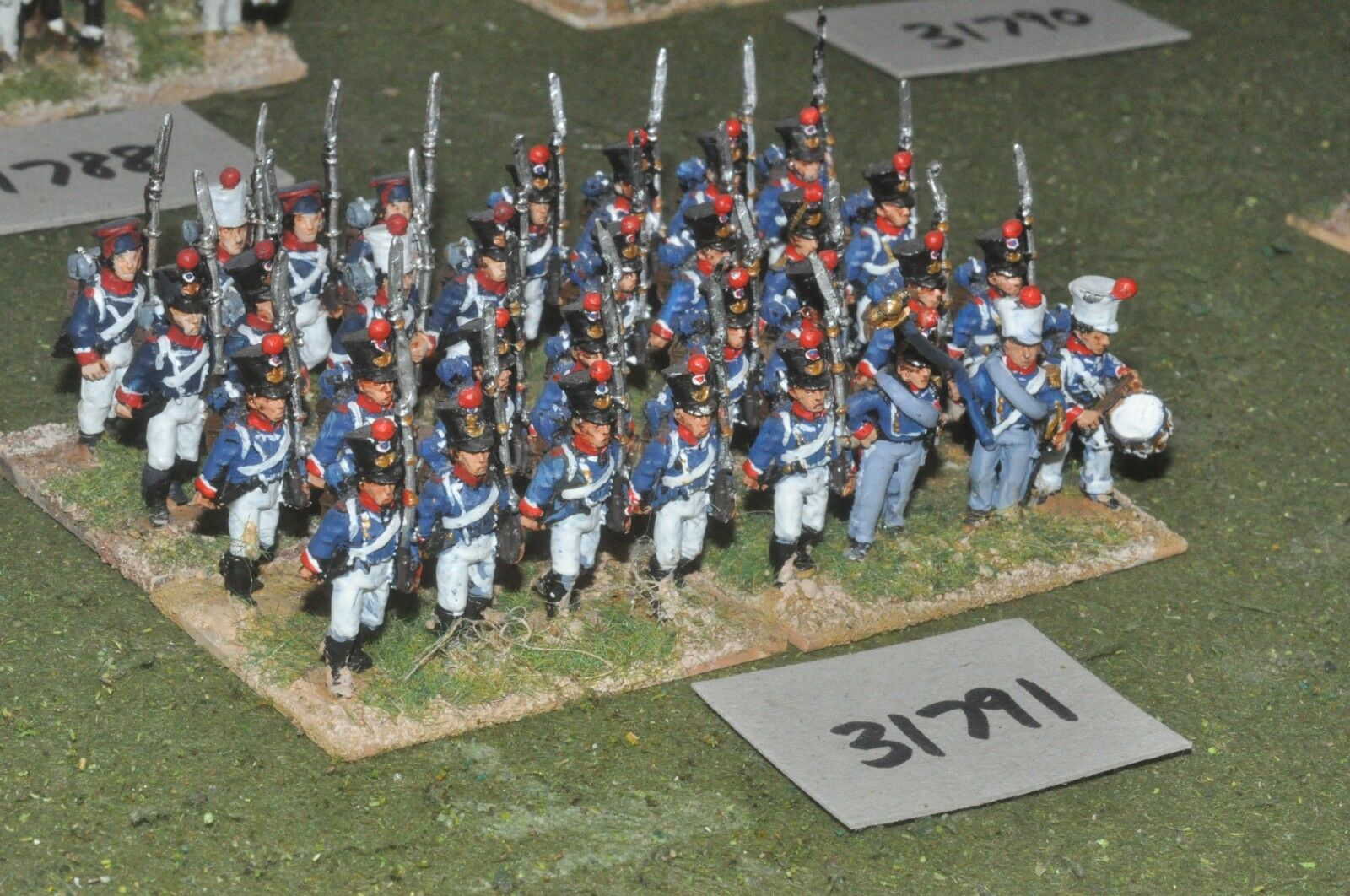 25mm napoleonic   french - guard 32 figures - inf (31791)