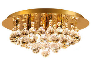 Modern round ceiling chandelier light crystal droplets gold stx50019 image is loading modern round ceiling chandelier light crystal droplets gold aloadofball Image collections