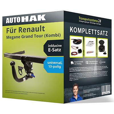 Anhängerkupplung abnehmbar Für Renault Megane II Kombi 03-09 13-pol E-Satz
