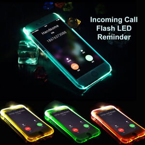 quality design 4a9b6 65e37 Details about LED Flash Light UP Remind Incoming Call Cover Case For iPhone  5S 6/6S 7 8 Plus X