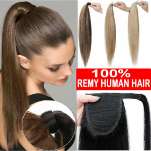 100-Remy-Human-Hair-Straight-Wrap-Around-Clip-in-Ponytail-Human-Hair-Extensions