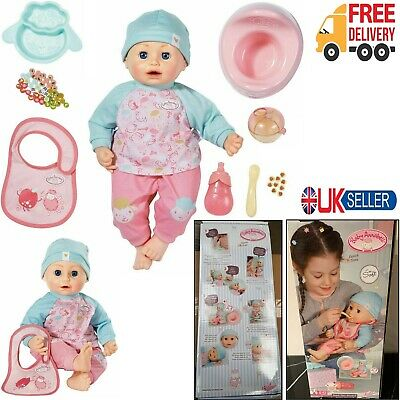 43cm Baby Annabell Lunch Time Doll Kid Toys Magically Eats ...