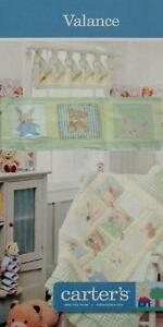CARTER-039-S-STUFFED-ANIMALS-BABY-ROOM-VALANCE-WINDOW-TREATMENT-NEW