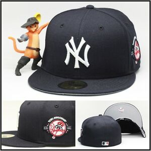 New Era New York Yankees Fitted Hat Cap 100th Anniversary Side ... 7a5ee8b3acbb