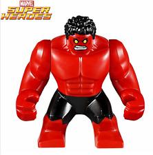 New Red Hulk 7cm High custom minifigure Lego Fit SUPER VILLAIN - UK SELLER