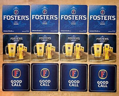 "10 x Fosters ""good Call"" Beer Mats Beer Coasters Home Bar Home Pub"