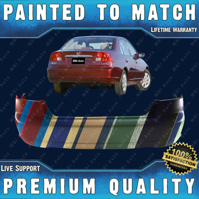 NEW Painted To Match Rear Bumper Cover For 2001-2003 Honda