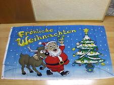 Fahnen Flagge Fröhliche Frohe Weihnachten Rentier Sonderposten - 90 x 150 cm